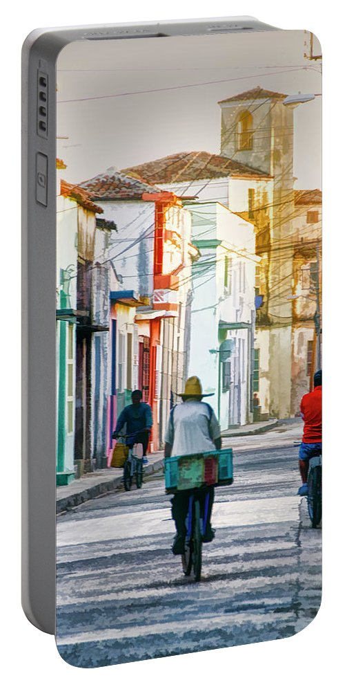 Cuba Portable Battery Charger featuring the photograph Camaguey Street 11 by Claude LeTien