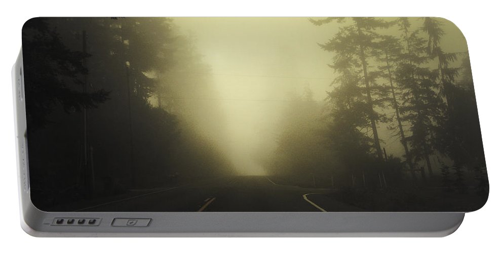 Fog Portable Battery Charger featuring the photograph Camano Island Fog by Tim Nyberg