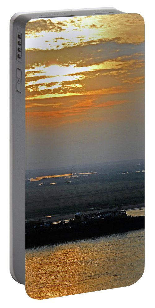 Cambodia Portable Battery Charger featuring the photograph Cambodian Sunsets 2 by Ron Kandt
