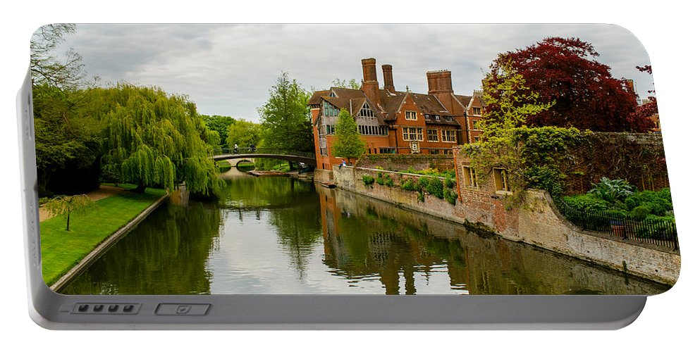 Cambridge Portable Battery Charger featuring the photograph Cambridge Serenity by Shanna Hyatt