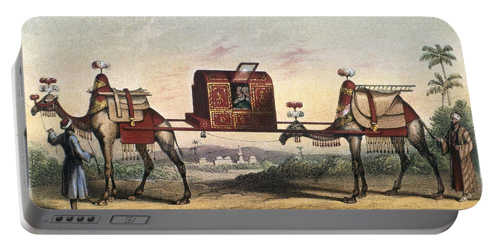 20th Century Portable Battery Charger featuring the photograph Camels And Litter by Granger