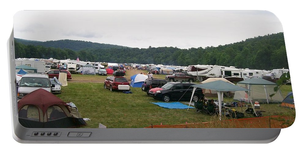 Creationfest Portable Battery Charger featuring the photograph Camp Out by R Chambers