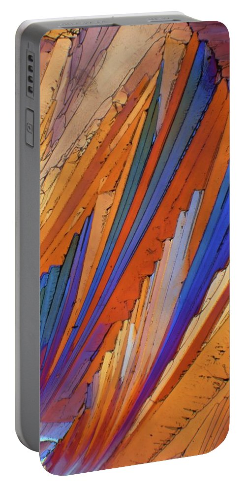 Abstract Portable Battery Charger featuring the photograph Campari 25 by Bernardo Cesare