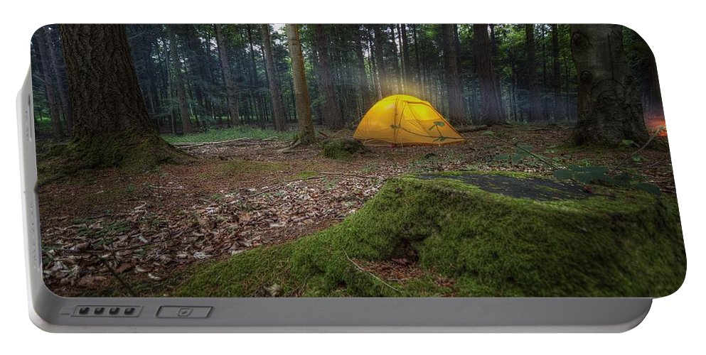 Camping Portable Battery Charger featuring the photograph Camping by Dawn Van Doorn