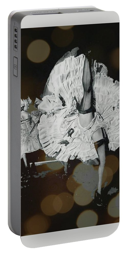 France Portable Battery Charger featuring the digital art Can-can by Tiffaney Porter