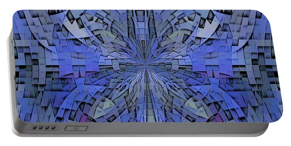 Abstract Portable Battery Charger featuring the digital art Can You Hear Me Now by Tim Allen