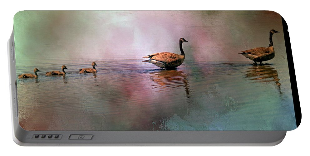 Recent Portable Battery Charger featuring the photograph Canadian Geese by Geraldine Scull