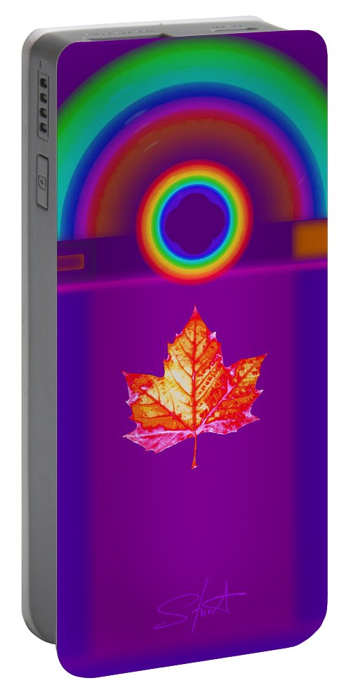 Classical Portable Battery Charger featuring the digital art Canadian Palladian by Charles Stuart