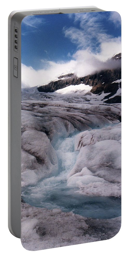 Landscape Portable Battery Charger featuring the photograph Canadian Rockies Glacier by Stan Roban