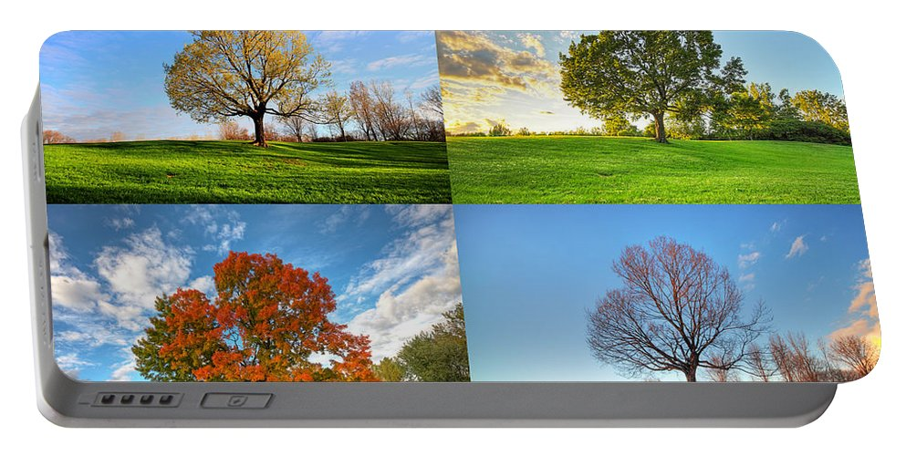 Canada Portable Battery Charger featuring the photograph Canadian Seasons by Mircea Costina Photography