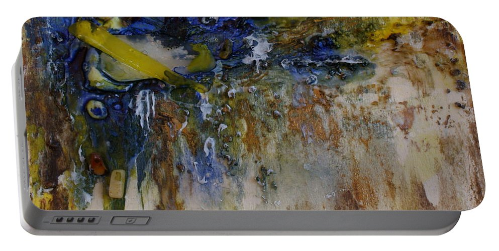 Canadian Shoreline Portable Battery Charger featuring the painting Canadian Shoreline by Joanne Smoley