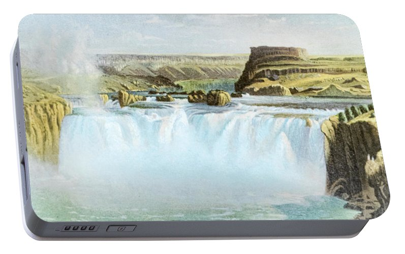 Canadian Portable Battery Charger featuring the photograph Canadian Water Fall by Douglas Barnett
