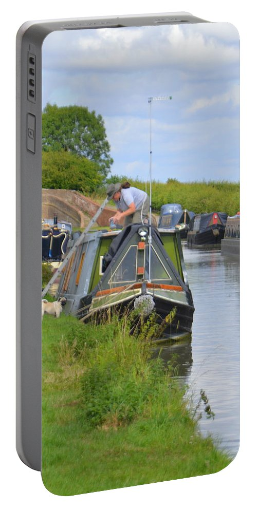 Canal Portable Battery Charger featuring the photograph Canal by Andy Thompson