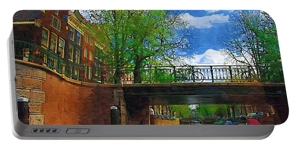 Amsterdam Portable Battery Charger featuring the photograph Canals Of Amsterdam by Tom Reynen
