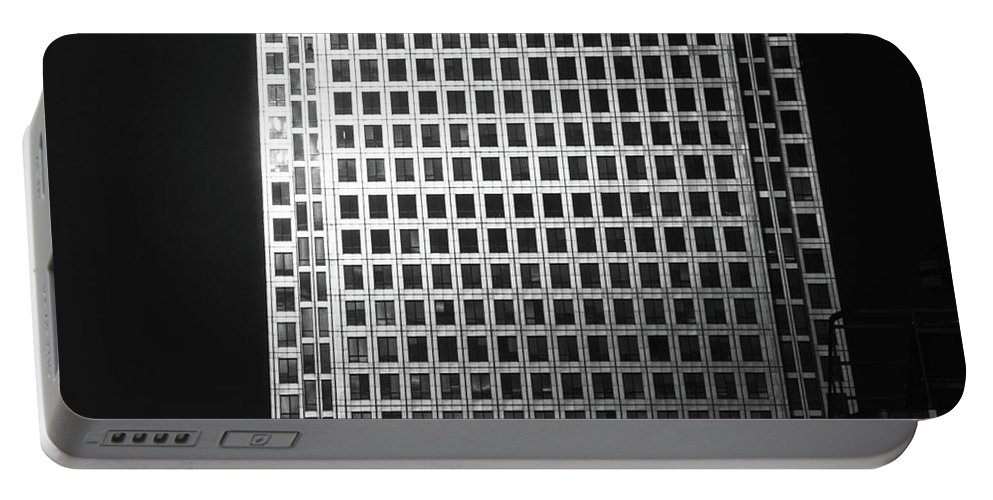 Canary Warf Portable Battery Charger featuring the photograph Canary Warf London 2 by David Rives