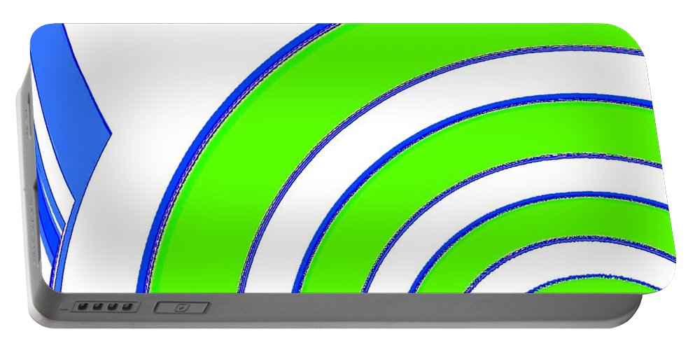 Abstract Portable Battery Charger featuring the digital art Candid Color 13 by Will Borden