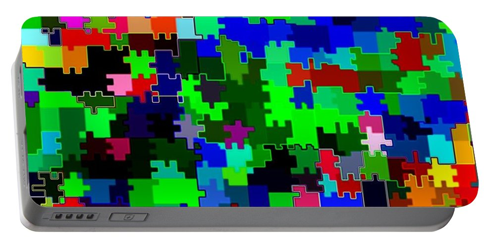 Abstract Portable Battery Charger featuring the digital art Candid Color 2 by Will Borden