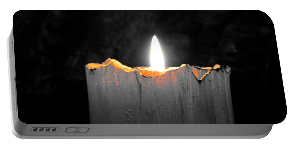 Candle Portable Battery Charger featuring the photograph Candle Color by Sarah Houser