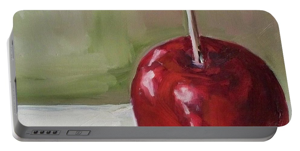 Candy Portable Battery Charger featuring the painting Candy Apple by Kristine Kainer