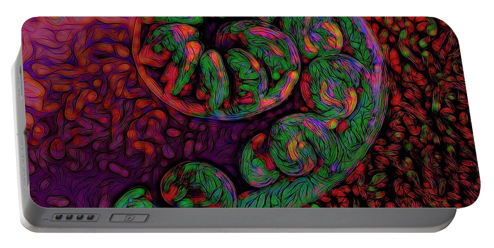 Surrealistic Art Portable Battery Charger featuring the photograph Candy Cane - Hawaiian Style by Heidi Fickinger