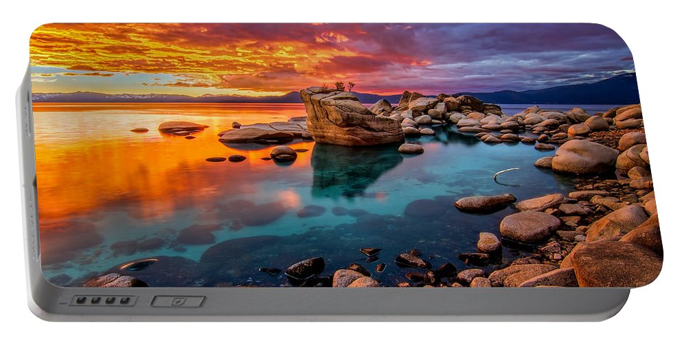 Candy Portable Battery Charger featuring the photograph Candy Skies by Steve Baranek