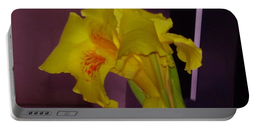 Canna Portable Battery Charger featuring the photograph Canna Flower by Nilu Mishra