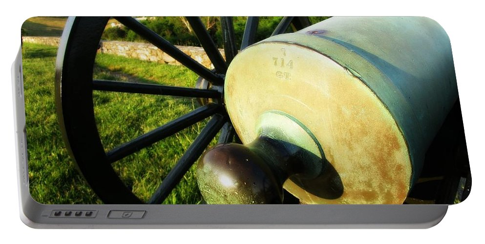 Antietam Battlefield Portable Battery Charger featuring the photograph Cannon At Antietam by Lisa Victoria Proulx