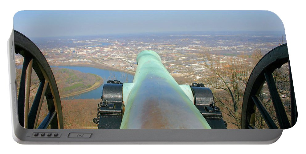 Cannon Portable Battery Charger featuring the photograph Cannon Sighting by Kristin Elmquist