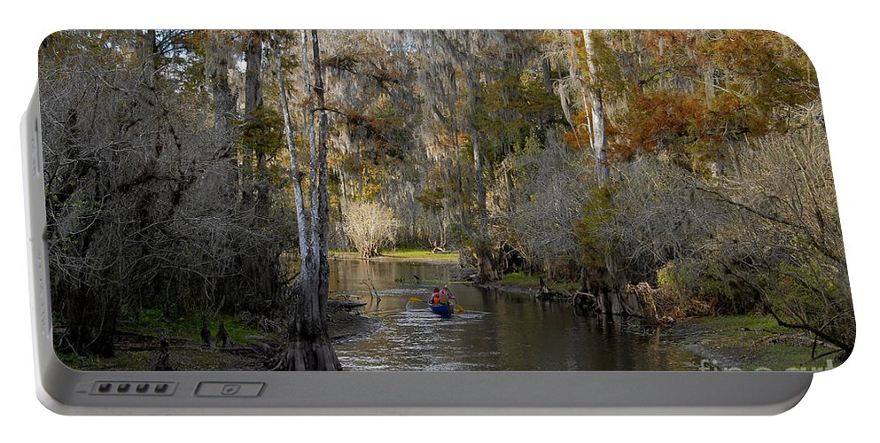 Family Portable Battery Charger featuring the photograph Canoeing In Florida by David Lee Thompson