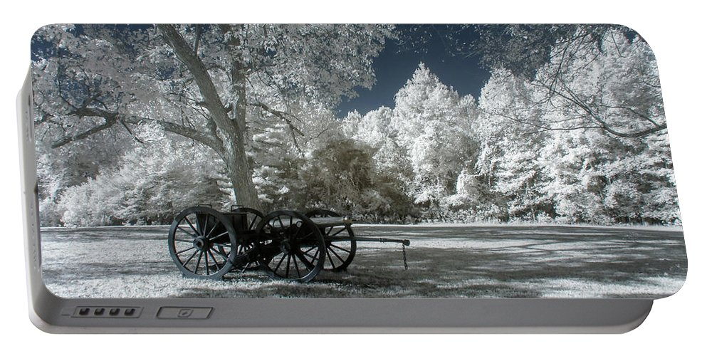 Cannons Portable Battery Charger featuring the photograph Canon In Petersburg National Battlefield by Liza Eckardt