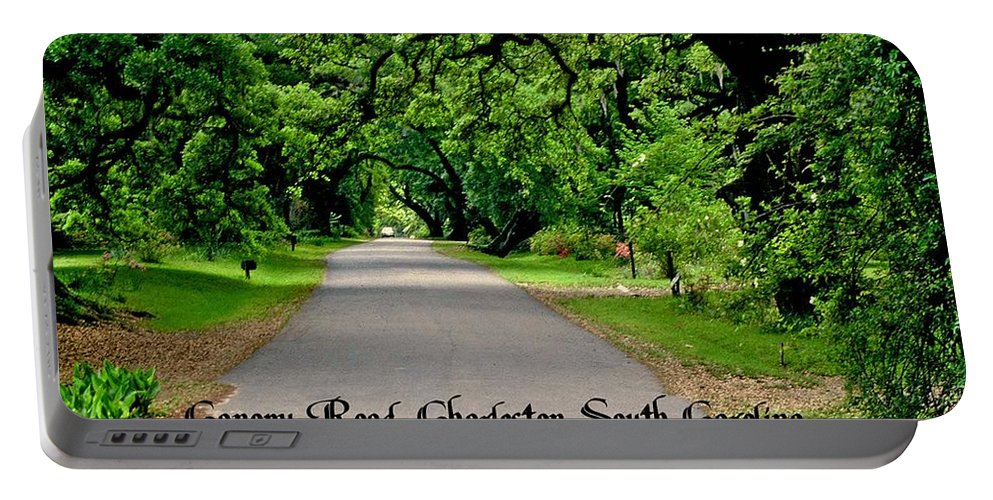 Plantation Road Portable Battery Charger featuring the photograph Canopy Road by Gary Wonning