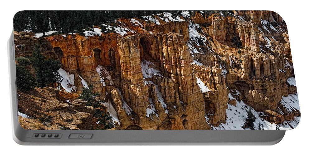 Bryce Canyon Portable Battery Charger featuring the photograph Canyon Alcoves by Christopher Holmes