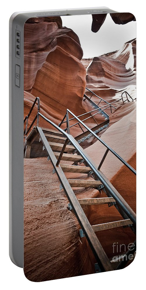 Slot Canyon Portable Battery Charger featuring the photograph Canyon Exit by Scott Sawyer