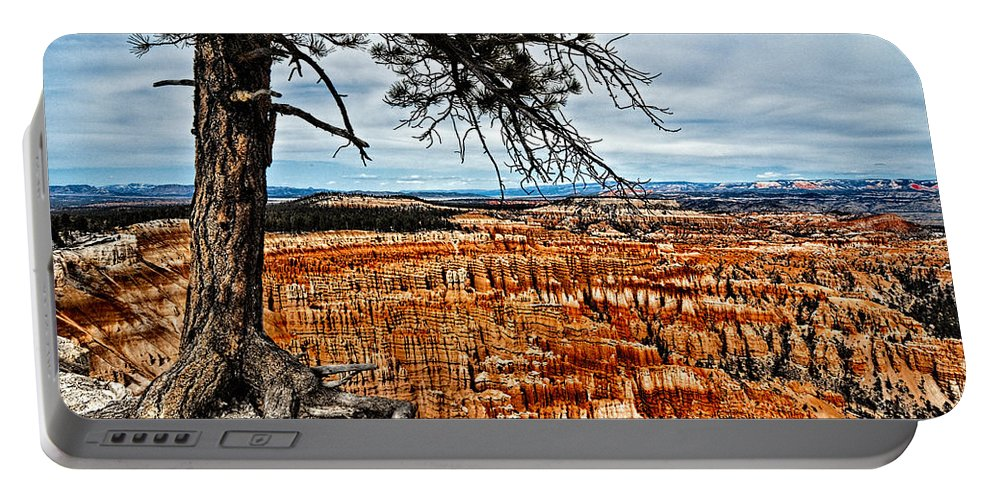 Art Portable Battery Charger featuring the photograph Canyon Overlook by Christopher Holmes