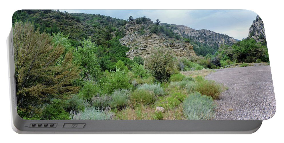 Canyon Road Portable Battery Charger featuring the photograph Canyon Road by Roberts Photography