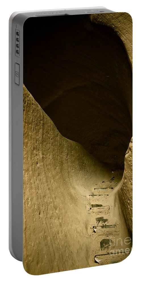 Photograph Portable Battery Charger featuring the photograph Canyon Steps by Scott Sawyer