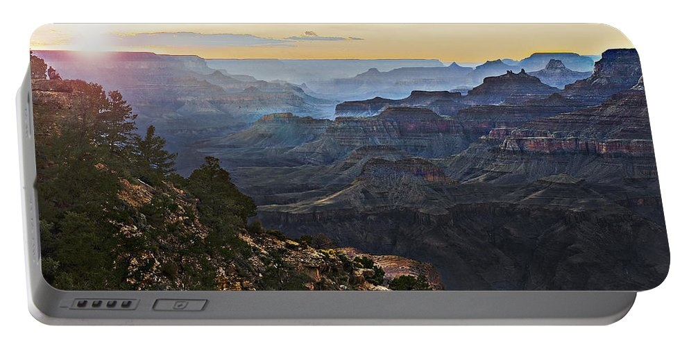 Canyon Portable Battery Charger featuring the photograph Canyon Sundown by John Christopher