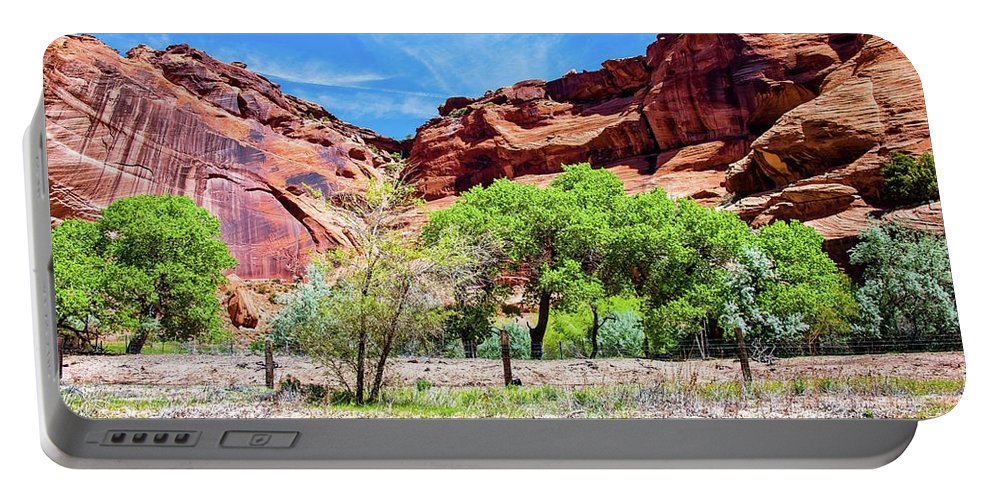 Arizona Portable Battery Charger featuring the photograph Canyon Wall. by Michael Farndell