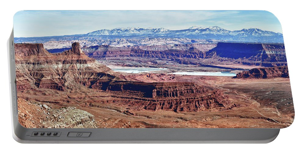 Dead Horse Point Portable Battery Charger featuring the photograph Canyonland Panorama by Surjanto Suradji