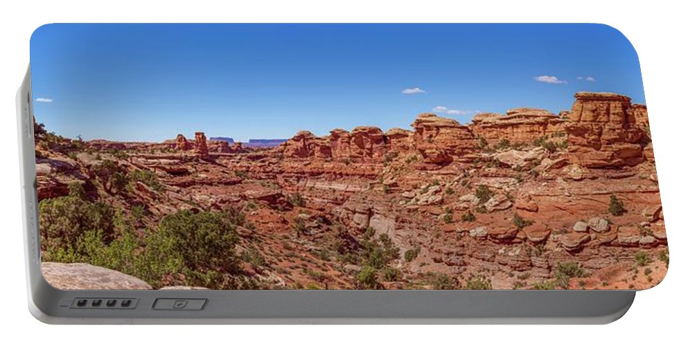 National Parks Portable Battery Charger featuring the photograph Canyonlands National Park - Big Spring Canyon Overlook by Brenda Jacobs