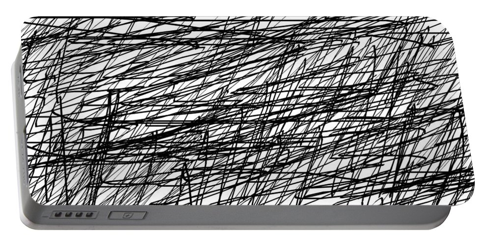 Digital Art Portable Battery Charger featuring the digital art Caos by Aj