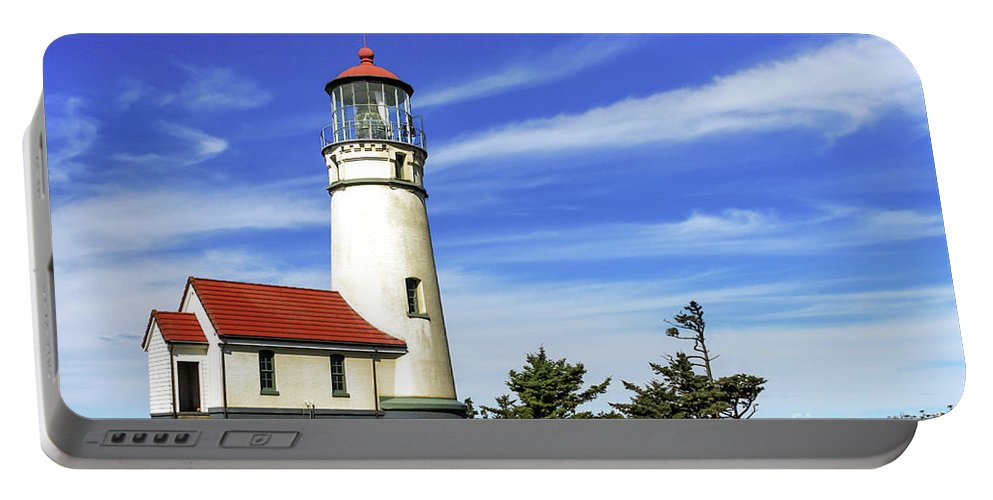 Lighthouse Portable Battery Charger featuring the photograph Cape Blanco Lighthouse by James Eddy