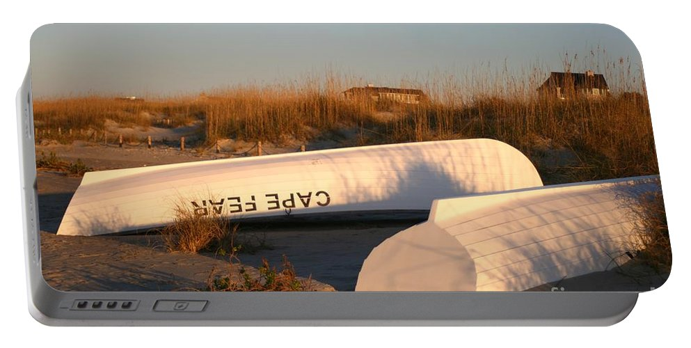 Boats Portable Battery Charger featuring the photograph Cape Fear Boats by Nadine Rippelmeyer