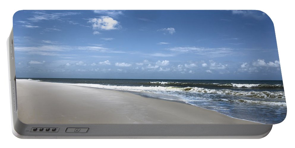 Beach Portable Battery Charger featuring the photograph Cape San Blas by Debra Forand