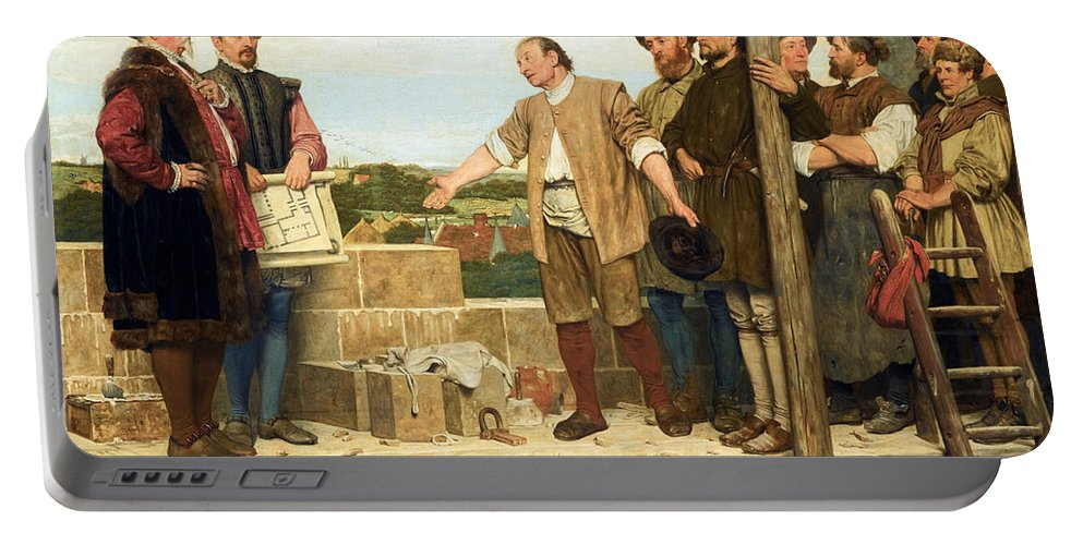 Henry Stacy Marks Portable Battery Charger featuring the painting Capital And Labour by Henry Stacy Marks