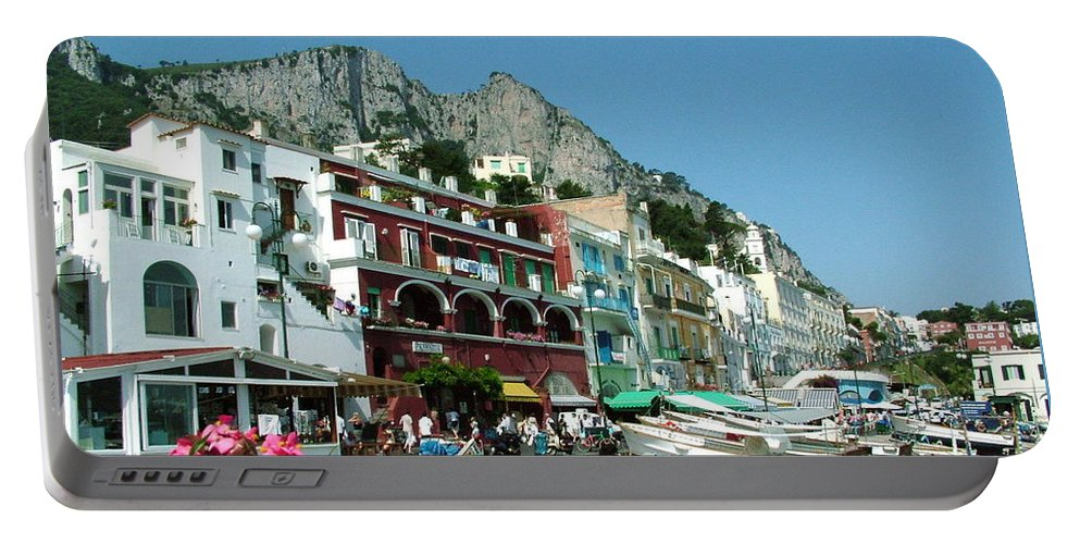 Capri Portable Battery Charger featuring the photograph Capri by Donna Corless