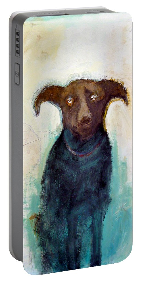 Portable Battery Charger featuring the painting Captain Eddy by Dan Hoglund