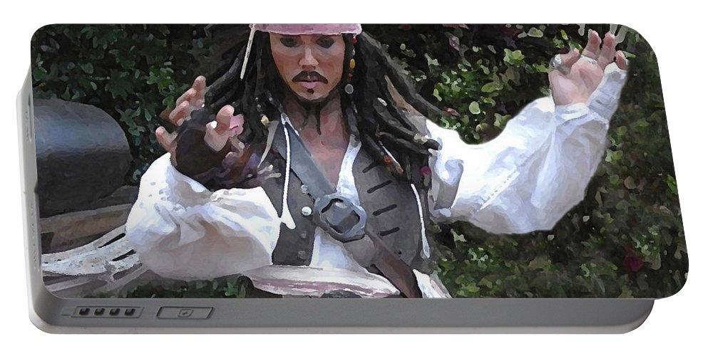 Captain Portable Battery Charger featuring the photograph Captain Sparrow by David Lee Thompson