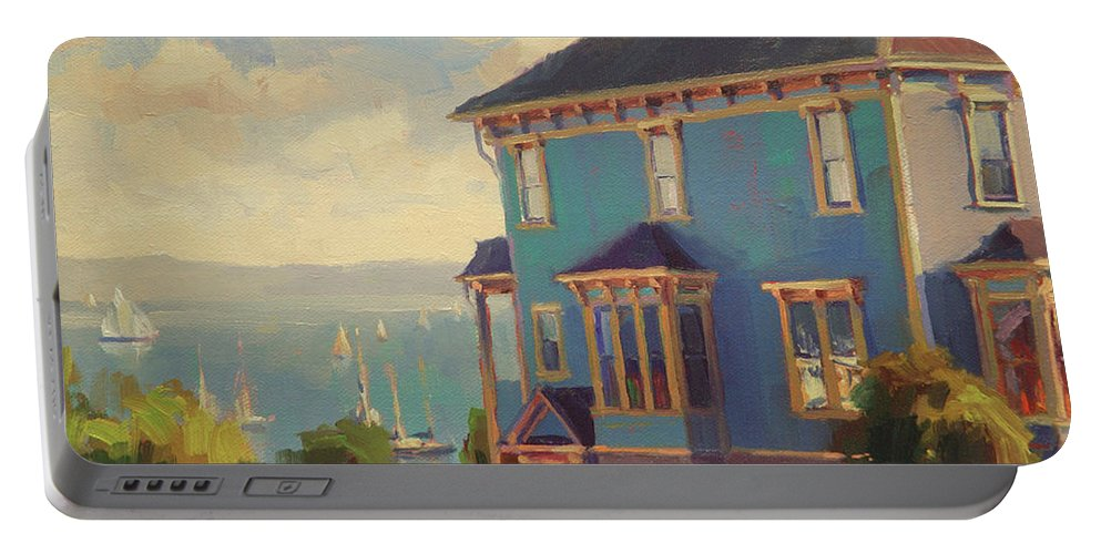 Coast Portable Battery Charger featuring the painting Captain's House by Steve Henderson