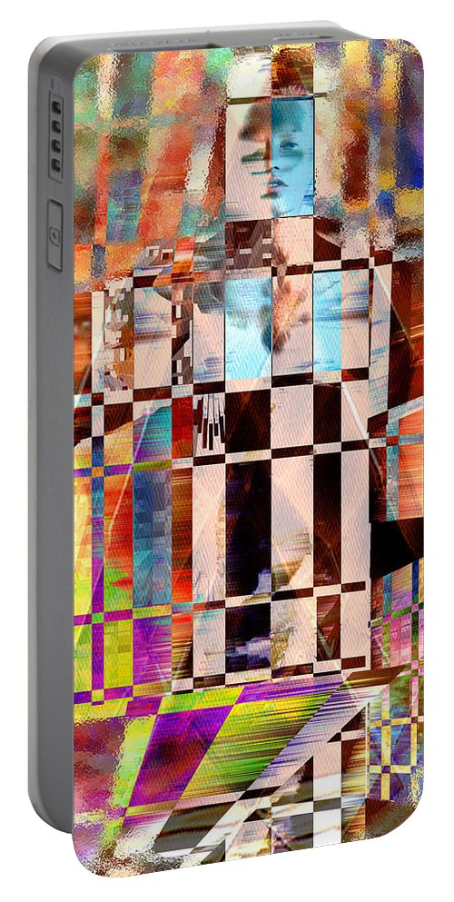 Abstract Portable Battery Charger featuring the photograph Captivia by Seth Weaver